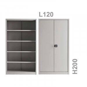 Armadio metallico ante battenti 120x200