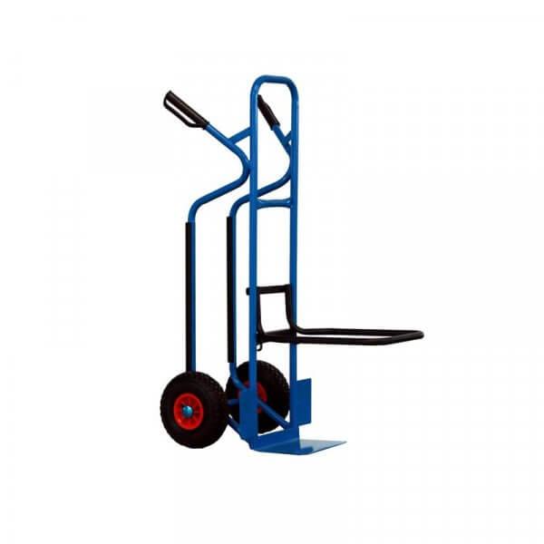 Carrello con accessorio porta sedie aperto