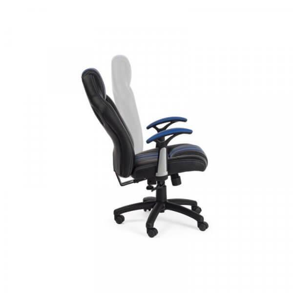 Poltrona da gaming Spider Bizzotto Blu-Nera reclinabile