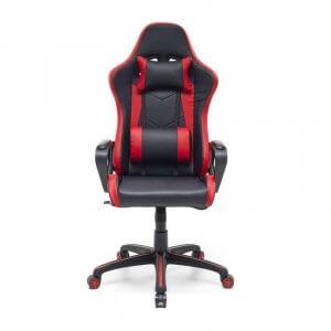 Poltrona gaming Salmar Rosso nera