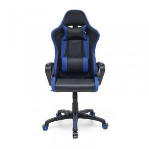 Sedia gaming blu nera