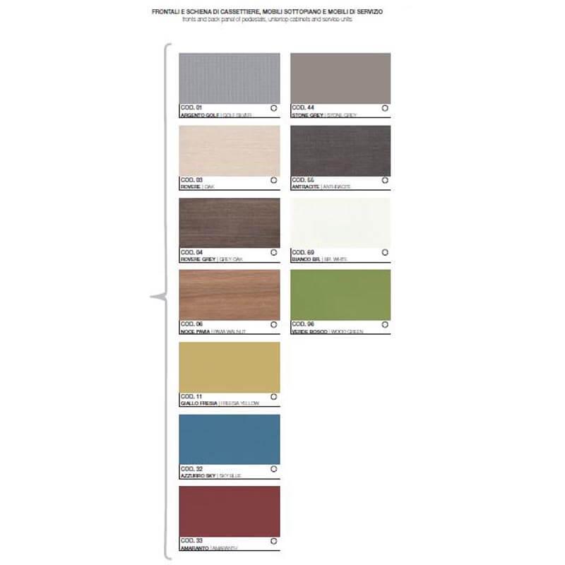 Cartella colori cassettiera
