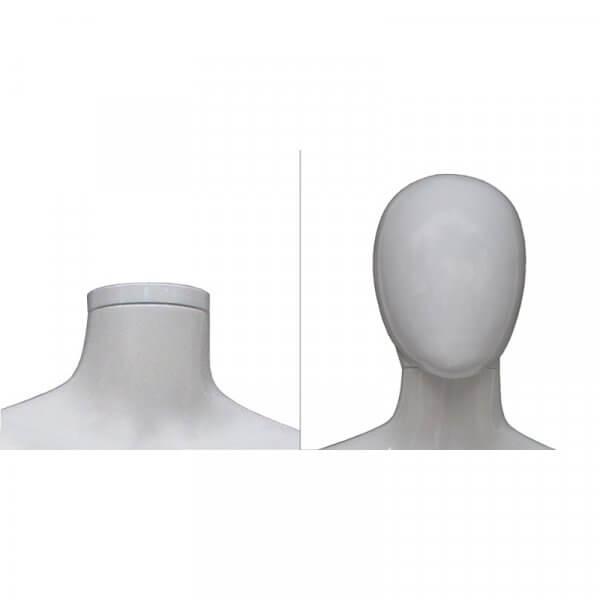 Manichino donna 4 posizioni bianco opaco testa