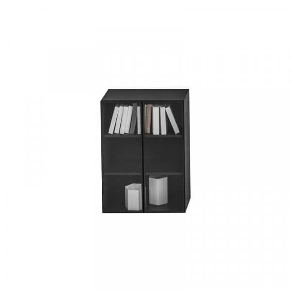 Libreria contenitore con ante vetro 127