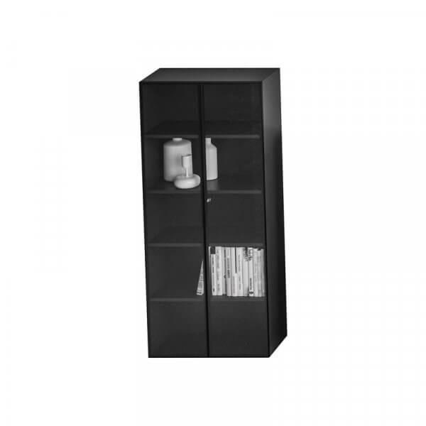 Libreria con ante vetro e telaio in alluminio About Office 210x45x90