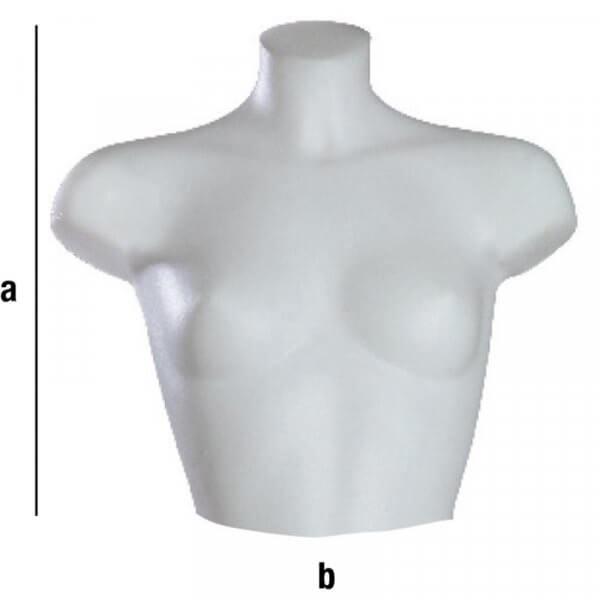 Mezzo torso donna corto con spalla