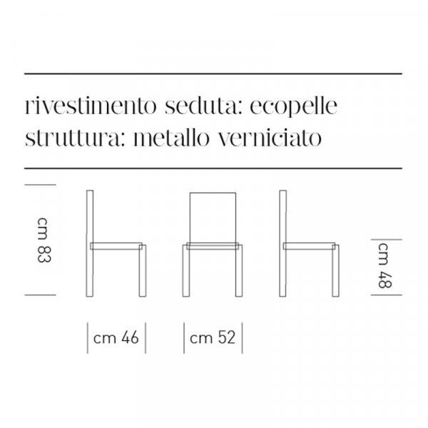 Scheda tecnica sedia Armony