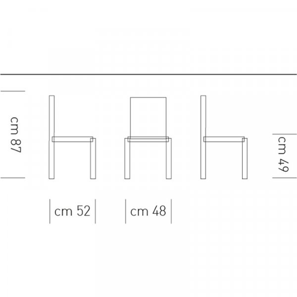 Scheda tecnica sedia Alba
