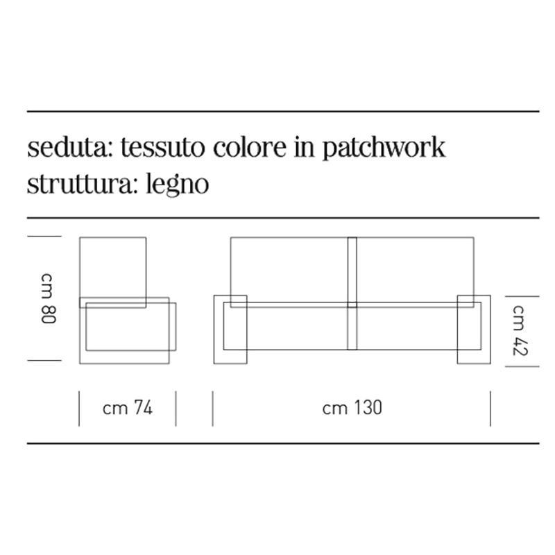 Scheda tecnica divano 2 posti Lisbon