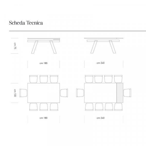 Scheda tecnica tavolo Krea