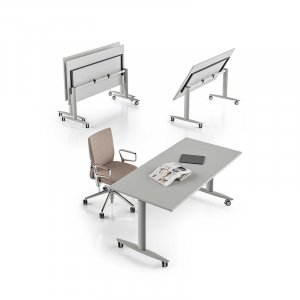 Scrivania gamba T con piano regolabile T-flex About Office