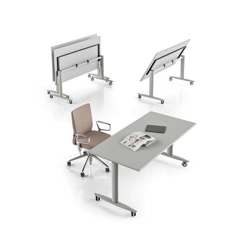 Scrivania gamba T con piano regolabile T-flex About Office