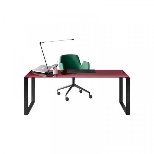 Scrivania in vetro per ufficio direzionale gamba ad anello About Office