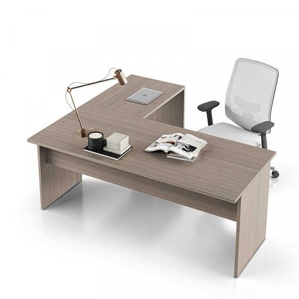 Scrivania operativa angolare fianco legno 57cm About-Office