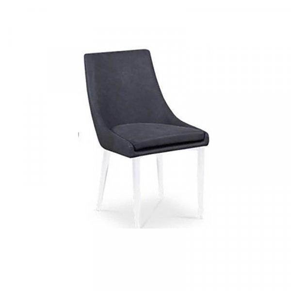Sedia Alba grigio vintage struttura bianca