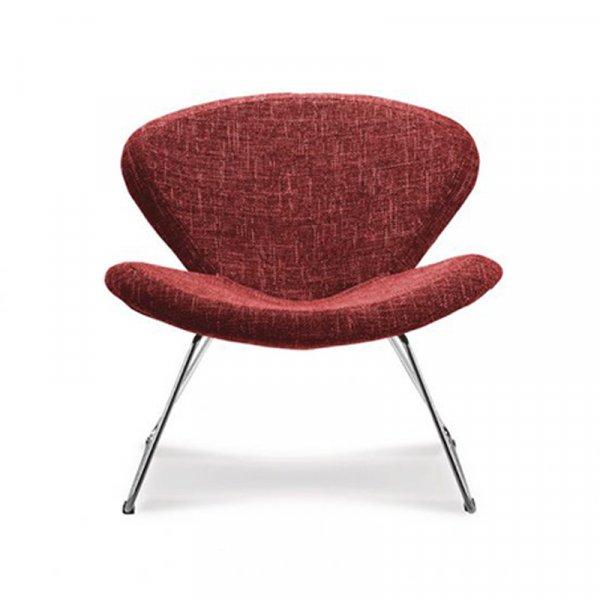 Sedia in tessuto rossa Passion Abitare giovane