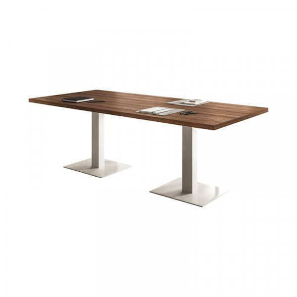 Tavolo riunione con base in metallo About Office