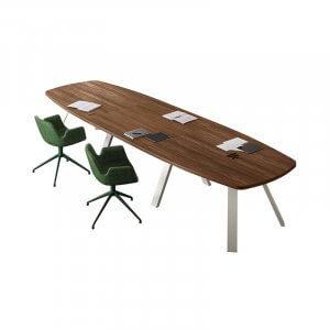 Tavolo riunione con gambe a K