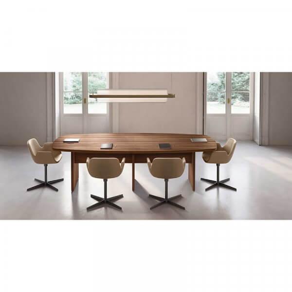 Tavolo riunioni fianco legno sagomato About Office