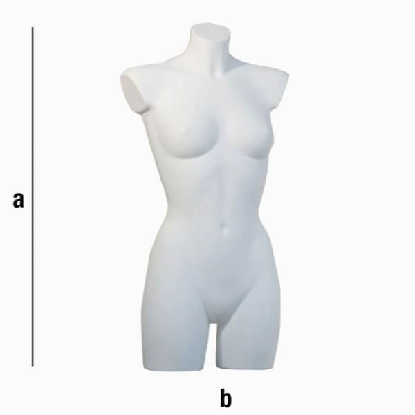 Busto di donna senza spalline