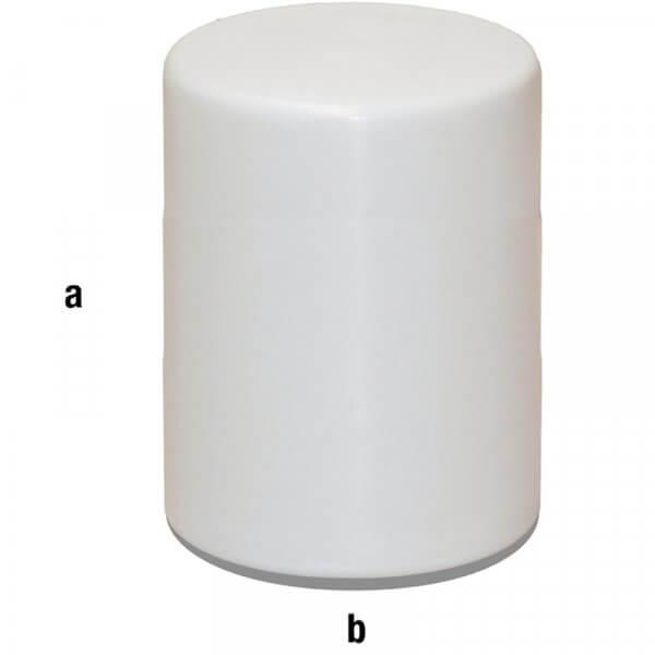 Cilindro espositore bianco 40x60cm
