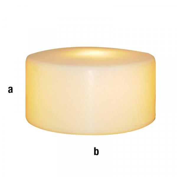Cilindro espositore illuminato bianco 40x20cm