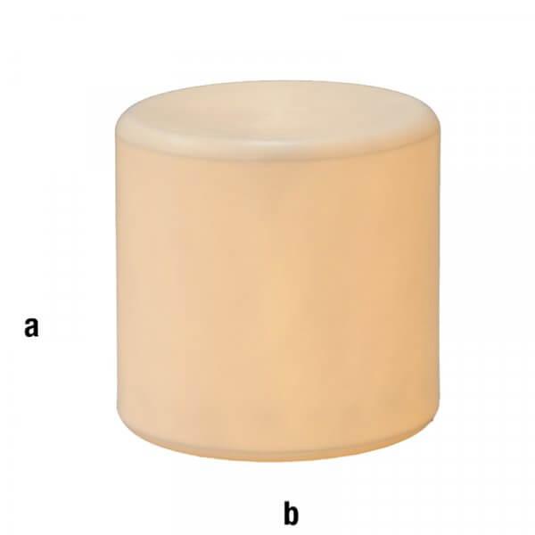 Cilindro espositore illuminato bianco 40x40cm