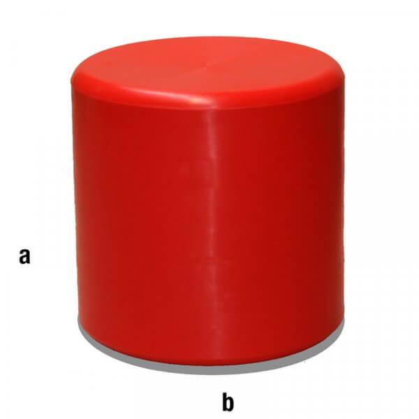 Cilindro espositore rosso 40x40cm