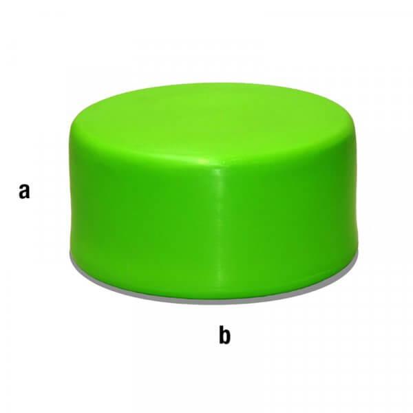Cilindro espositore verde 40x20cm