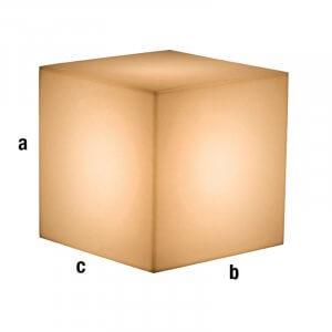 Cubo espositore illuminato bianco 40x40x40cm