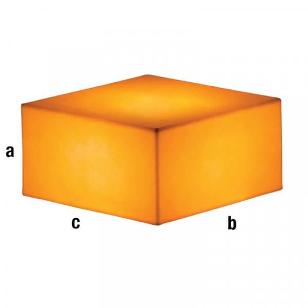 Cubo espositore illuminato dorato 40x40x20cm