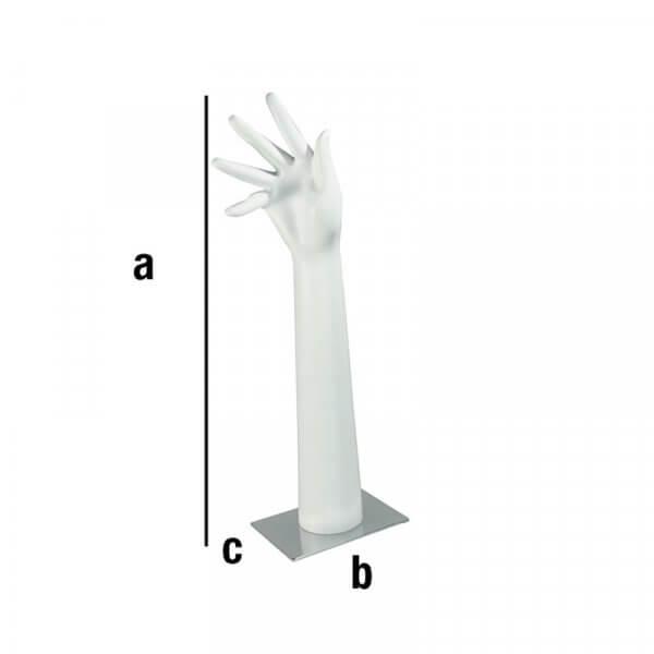 Espositore per anelli con mano su base