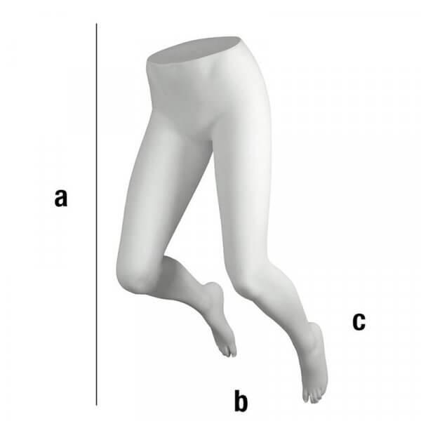 Gambe di donna piegate