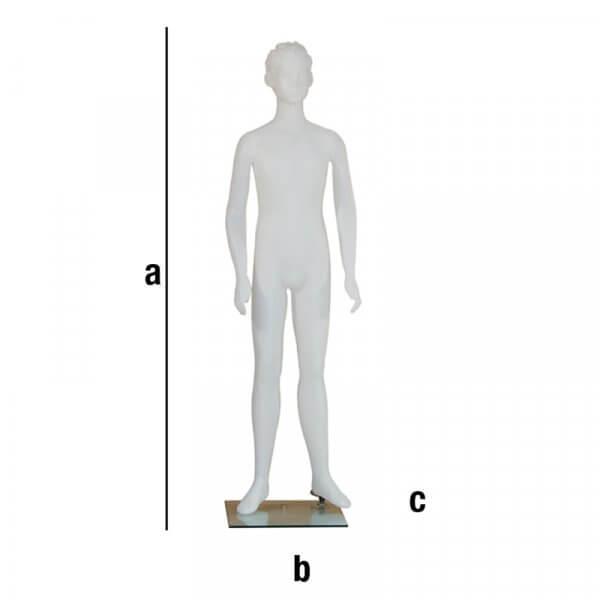Manichino bimbo Pascal alto 1,50mt con testa scolpita