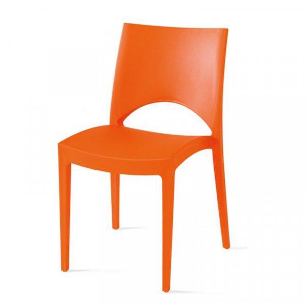 Sedia da esterno in polipropilene Day Abitare giovane arancione