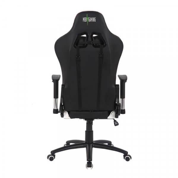 Sedia da Gaming MB bianco-nera dietro