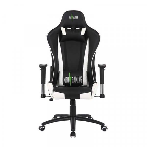 Sedia da Gaming MB bianco-nera fronte