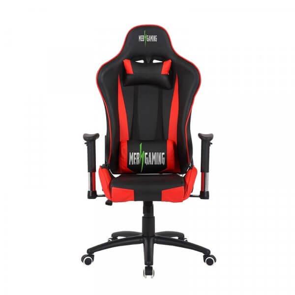 Sedia da Gaming MB rosso-nera fronte