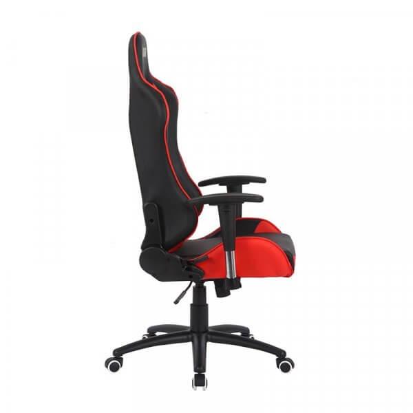 Sedia da Gaming MB rosso-nera laterale