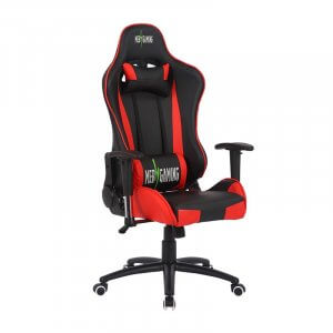 Sedia da Gaming MB rosso-nera lato