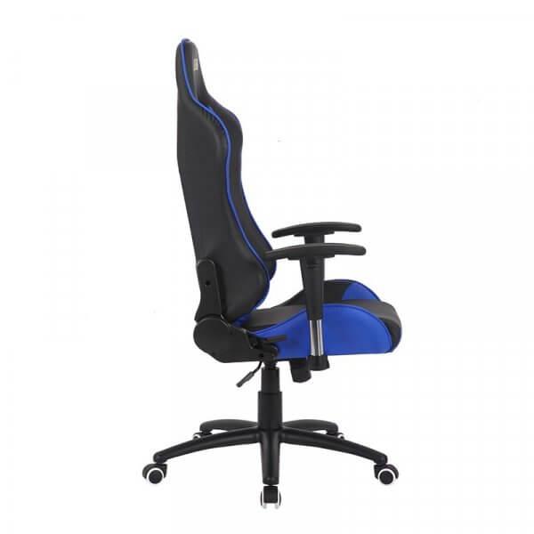 Sedia da gaming regolabile MB Blu nera