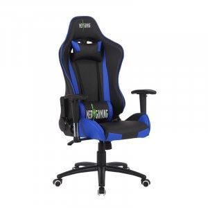 Sedia da gaming regolabile MB Blu nera lato