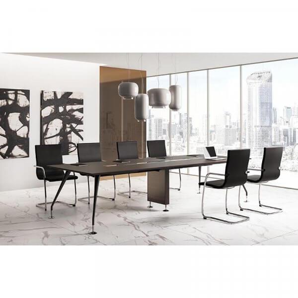 Tavolo riunioni rettangolare piano legno ENOSI EVO LAS